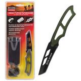 ECOS EX-SW-B01G Нож туристический со свистком (в ножнах) зеленый [1/12?]