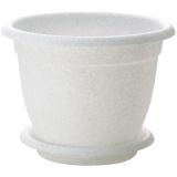 PlastRep Горшок для цветов Борнео D 240 mm, 4,4л с подставкой №5 мраморный [1/27]