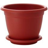 PlastRep Горшок для цветов Борнео D 240 mm, 4,4л с подставкой №5 терракотовый [1/27]