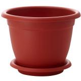 PlastRep Горшок для цветов Борнео D 290 mm, 7,8л с подставкой №6 терракотовый [1/12]