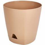 PlastRep Горшок для цветов AMSTERDAM D 110 с прикорневым поливом 0,65 л Молочный Шоколад [1/12]