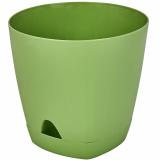 PlastRep Горшок для цветов  AMSTERDAM D 140 mm/1,35l с прикорневым поливом оливковый [1/10]