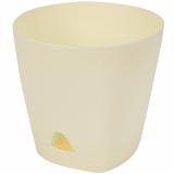PlastRep Горшок для цветов AMSTERDAM D 140 с прикорневым поливом 1,35 л Сливочный [1/10]