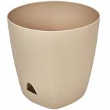 PlastRep Горшок для цветов AMSTERDAM D 170 с прикорневым поливом 2,5 л Молочный Шоколад [1/12]