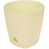 PlastRep Горшок для цветов AMSTERDAM D 170 с прикорневым поливом 2,5 л Сливочный [1/12]