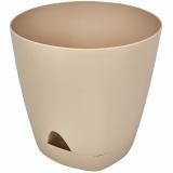 PlastRep Горшок для цветов AMSTERDAM D 200 с прикорневым поливом 4 л  Молочный Шоколад [1/6]