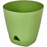 PlastRep Горшок для цветов AMSTERDAM D 200 mm/4l с прикорневым поливом оливковый [1/6]