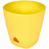 PlastRep Горшок для цветов AMSTERDAM D 200 mm/4l с прикорневым поливом Спелая груша [1/6]