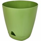 PlastRep Горшок для цветов  AMSTERDAM D 250mm/8l с прикорневым поливом оливковый [1/6]