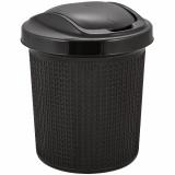 PlastRep Контейнер для мусора Ajur 12 л Венге [1/8]