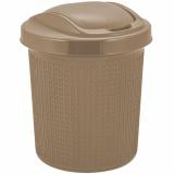 PlastRep Контейнер для мусора Ajur 12 л кофейный [1/8]