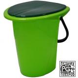 PlastRep Ведро-туалет Smart Solution 17 л оливковый [1/7]