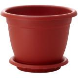 PlastRep Горшок для цветов Борнео D 210 mm, 2,9л с подставкой №4 терракотовый [1/40]