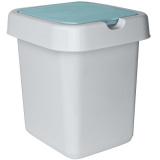 """PlastRep Контейнер для мусора """"Квадра"""" 25 л небесный [1/4?]"""