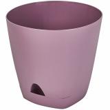 PlastRep Горшок для цветов  AMSTERDAM D 140 mm/1,35l с прикорневым поливом Морозная слива [1/10]