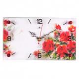 """1324-118 (10) Часы настенные """"Акварельные розы """" [1?/10]"""