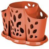 """PlastRep Сушилка для столовых приборов 3х-секционная """"Камелия"""" корица [1?/16?]"""
