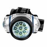 Camelion LED5317-9Mx   (фонарь налобн, металлик,9 ультра ярк LED,4 реж, 3XR03 в компл, пласт, блист) [1/6]